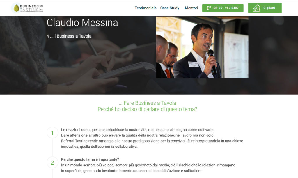 Referral Tasting - Claudio Messina - Business Tasting 2.0