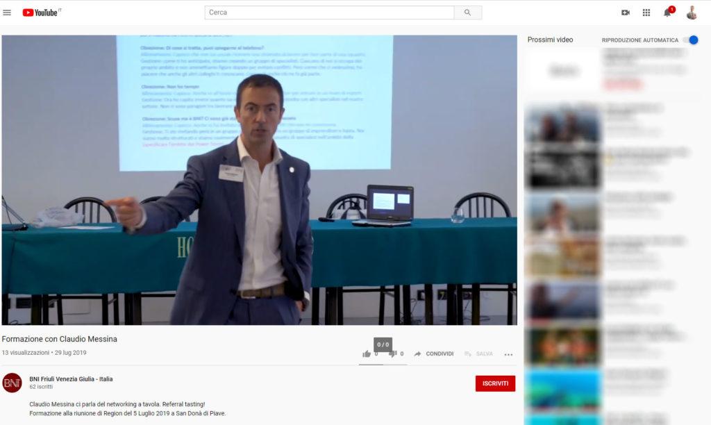Referral Tasting - Claudio Messina - Video YouTube a San Donà di Piave