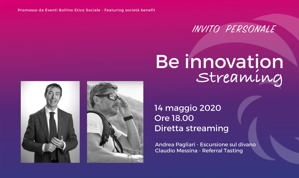 Be Innovation Streaming - Claudio Messina - Referral Tasting - 14 maggio 2020