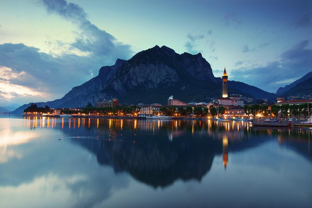 Lecco – Panorama al tramonto – Grazie Italia – Business a tavola – Claudio Messina