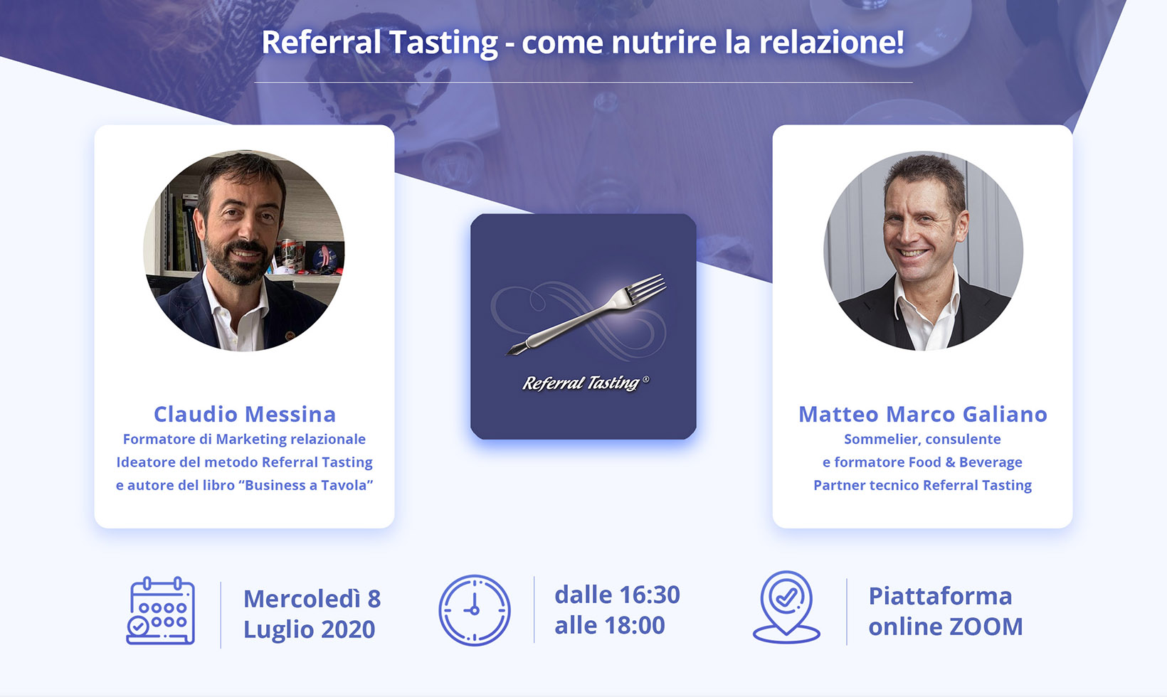 Webinar 8 luglio 2020 - Referral Tasting - Claudio Messina