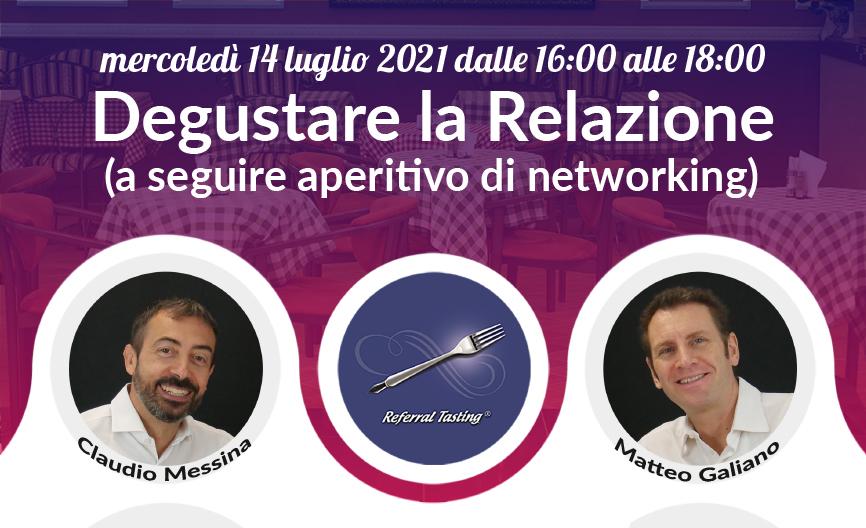 Webinar 15 luglio 2020 - Referral Tasting - Claudio Messina